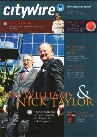 Citywire front cover Ian williams Nick Taylor Charteris